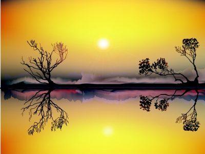 太陽、風景
