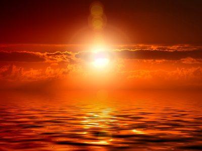 天風哲学、夕焼け