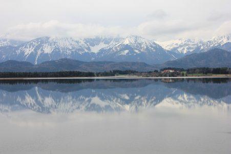 風景、雪山