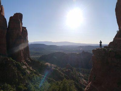 自分、風景、崖