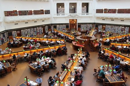 勉強、図書館