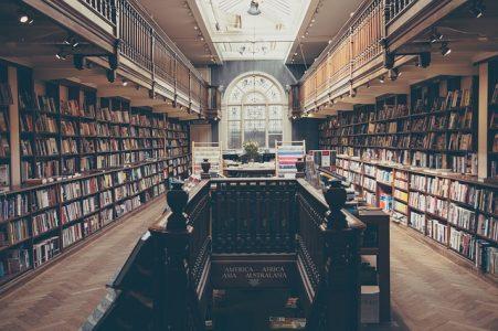 図書館、本