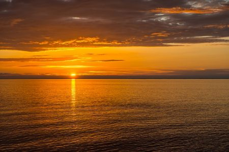 海、夕焼け