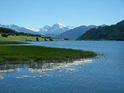 風景、山、川