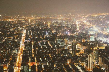 夜景、都会