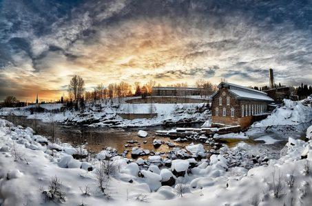 雪、冬、風景