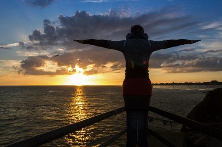 海、日の出