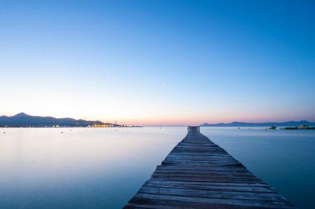 風景、湖、板橋