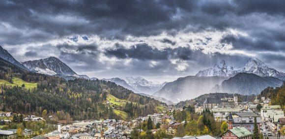 空、山脈、風景