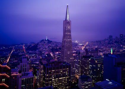 タワー、夜景、大都会