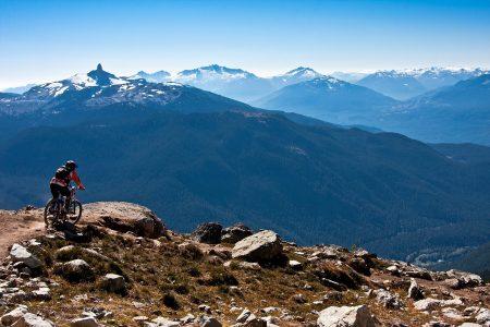 風景、山脈、マウンテンバイク