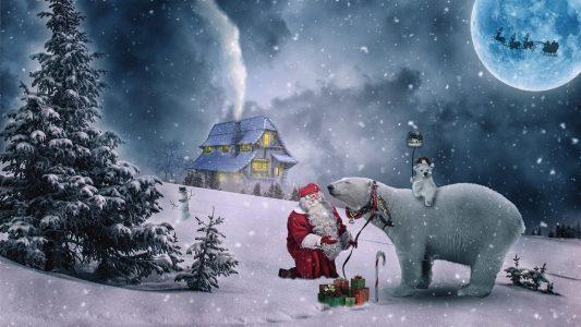 クリスマス、北国、サンタクロース