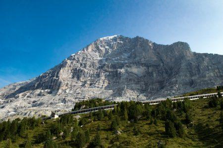 雪山、風景、自然